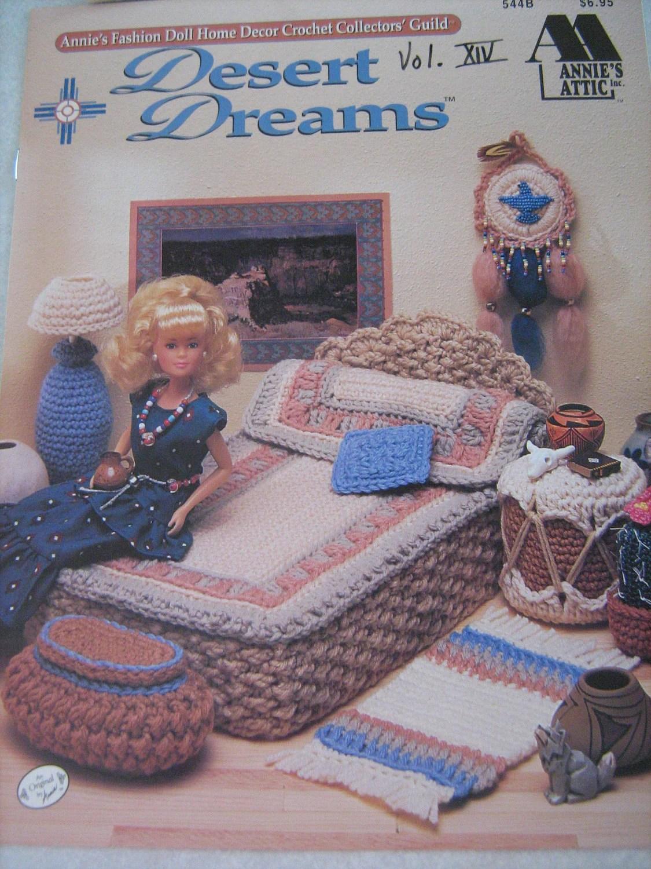 vintage crochet pattern book fashion doll home decor desert dreams bedroom annies attic. Black Bedroom Furniture Sets. Home Design Ideas