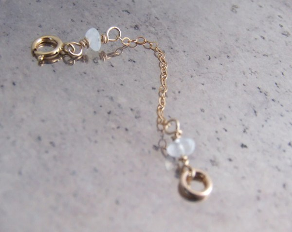 2 Chain Extender Removable Attached 14k