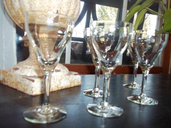 Antique Depression Cordial Glass Set Of 5