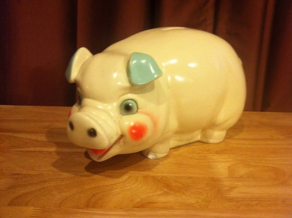 Ceramic Piggy Bank Extra Large And Creepy