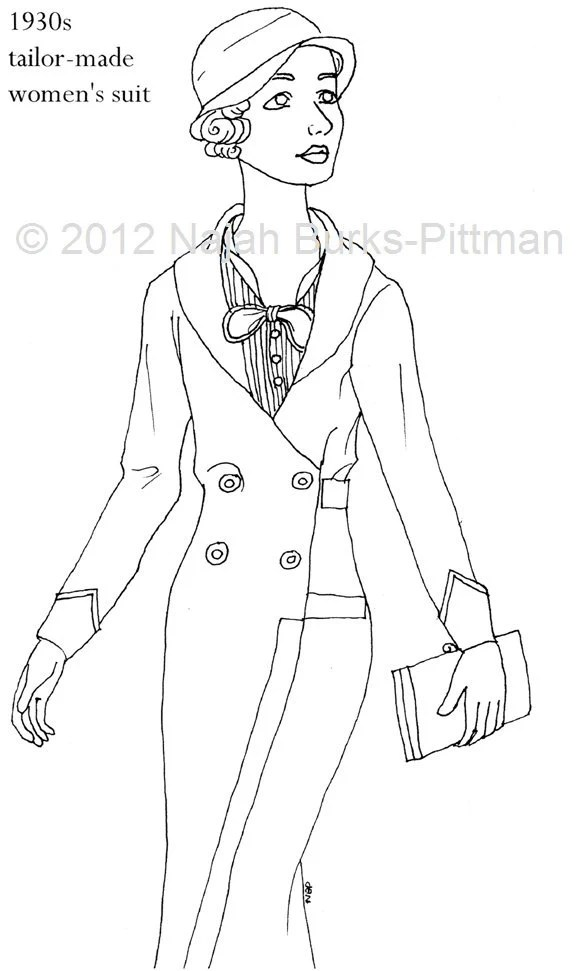 Items similar to 1930s Women's Suit Dressing Up Through