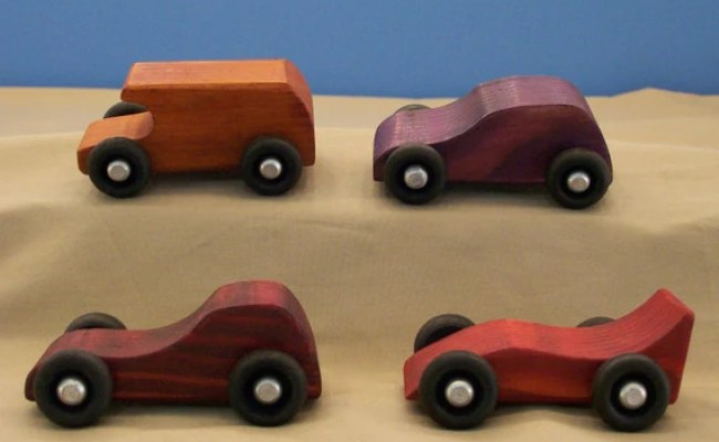 Wood Toy Cars 4 Small Wood Cars Wood Cars By Hummelcreations
