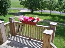 Rustic Flower Box Deck Planter