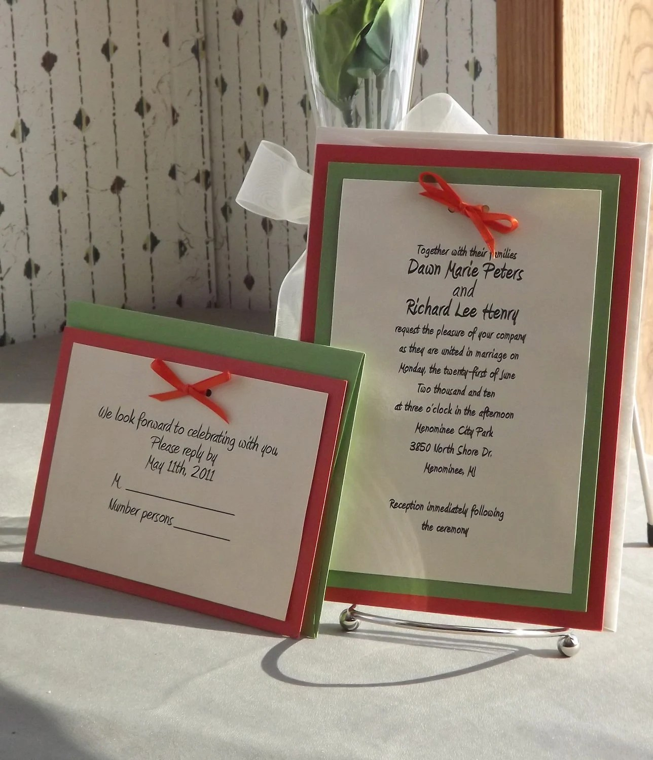 SALE DIY Wedding Invitation Kits with Invitations RSVP and