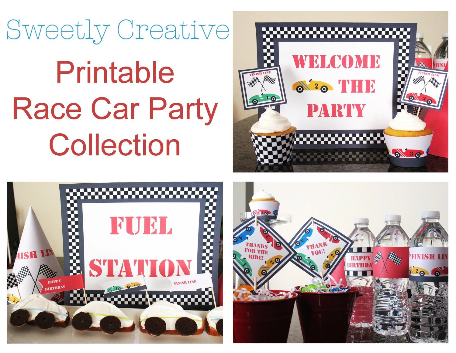 Race Car Party Collection Printable Instant Download