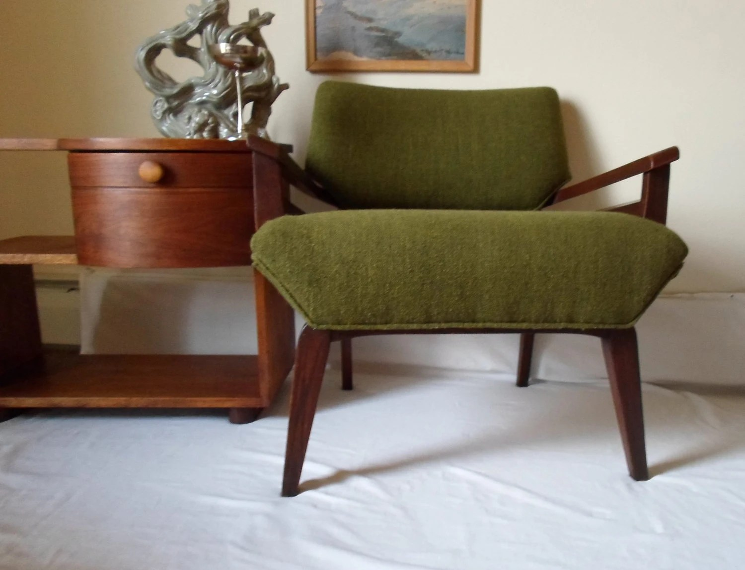 Mid Century Upholstered Chair Vintage Mid Century Modern Lounge Chair Upholstered