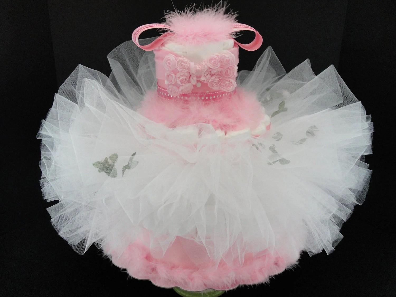 Pink Camo Diaper Cake Ideas