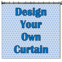 Design Your Own Customized Shower Curtain with your NAME