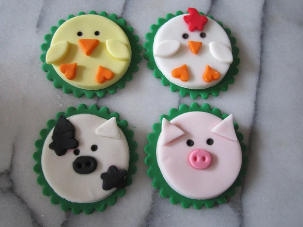 Items Similar Farm Animals Cupcake Toppers