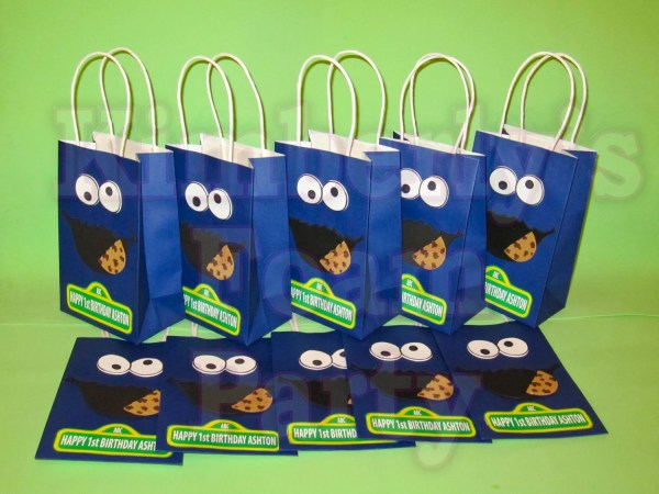 Cookie Monster Personalized Party Bags