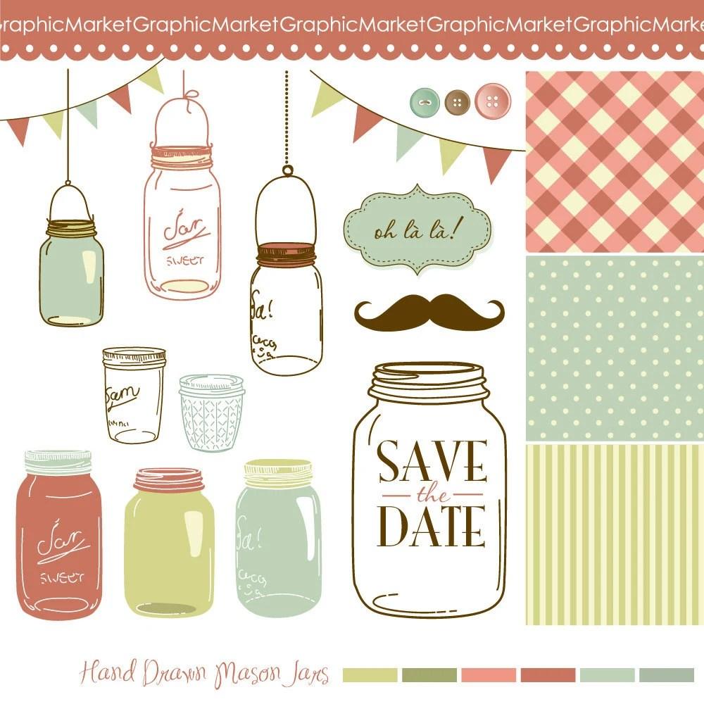 Save Date Cards Mason Jar