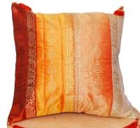 Orange Mustard Rust Pillow Cover Tasseled Pillow Decorative