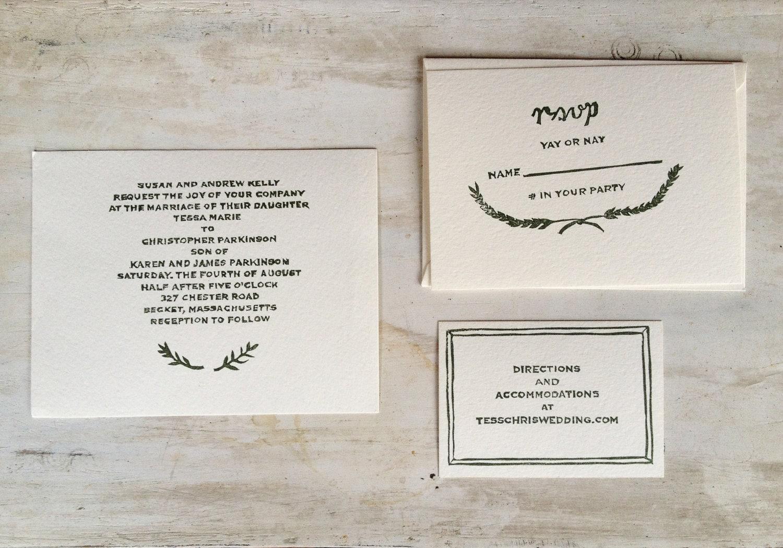 Custom Wedding Invitation Rubber Stamp Set by