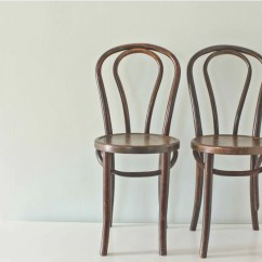 French Bentwood Cafe Chairs Bobs Furniture Cream Puff Chair Wood Bistro Thonet Style By