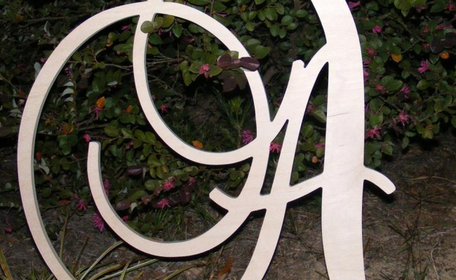24 Large Wooden Wall Letters Monogram Letters