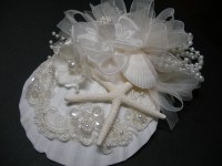 BEACH Wedding Fascinator Hair Piece Unique Bridal by