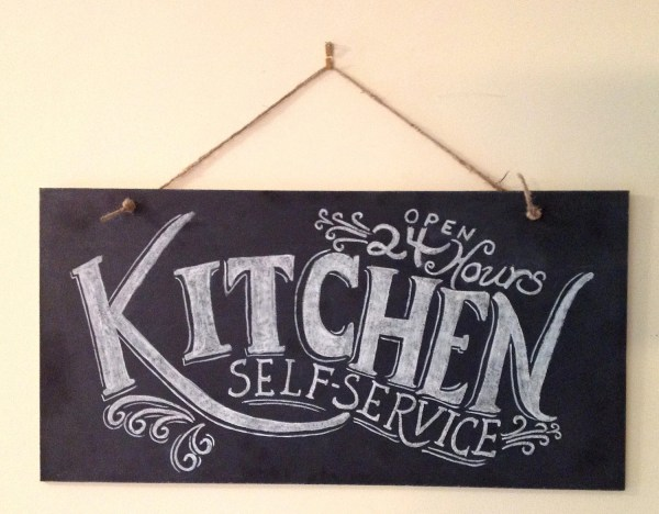 Kitchen Chalkboard Sign Wall Art Typography