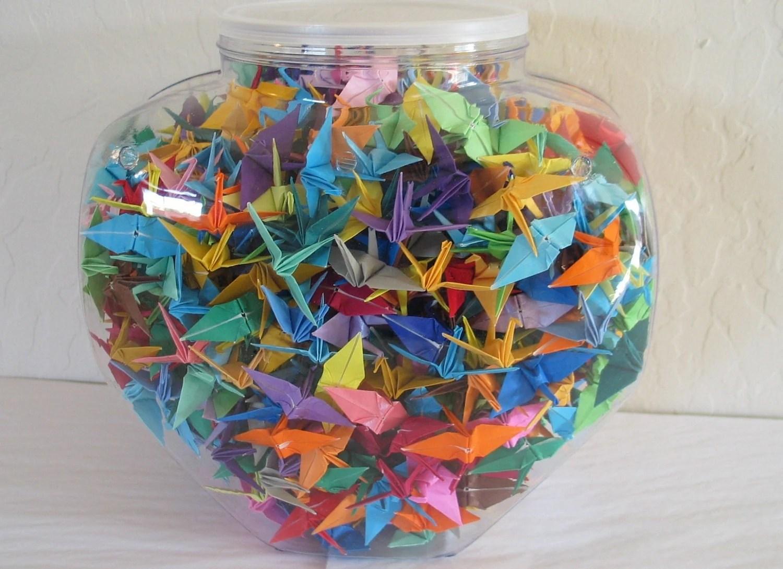 One Thousand 1000 HandMade 2 Origami Paper Cranes by RedAntsBev