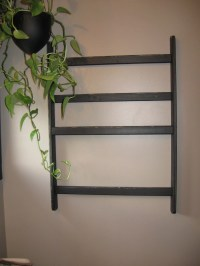 Items similar to Large Wall Mounted Quilt Rack or Linen ...