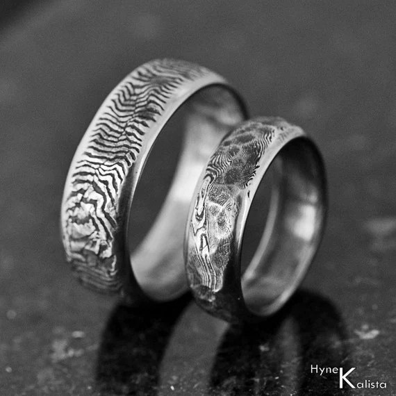 Unique wedding band Mens ring Womens ring Hand forged