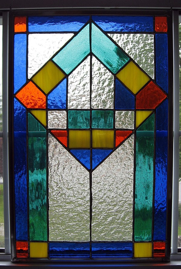 Classic Geometric Stained Glass Panel Stainedglassyourway