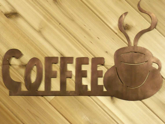 Items Similar To Metal Wall Words Metal Wall Art Coffee