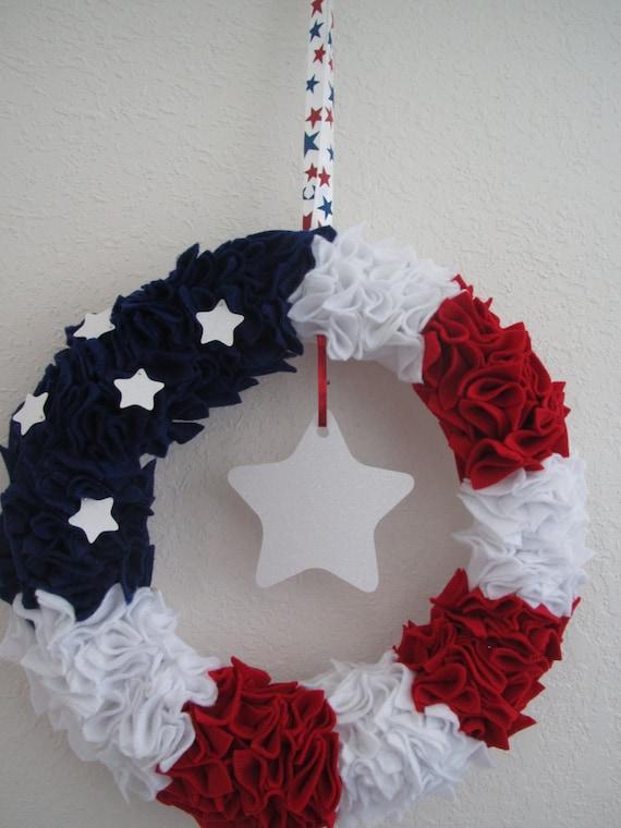 4th of July Flag Wreath
