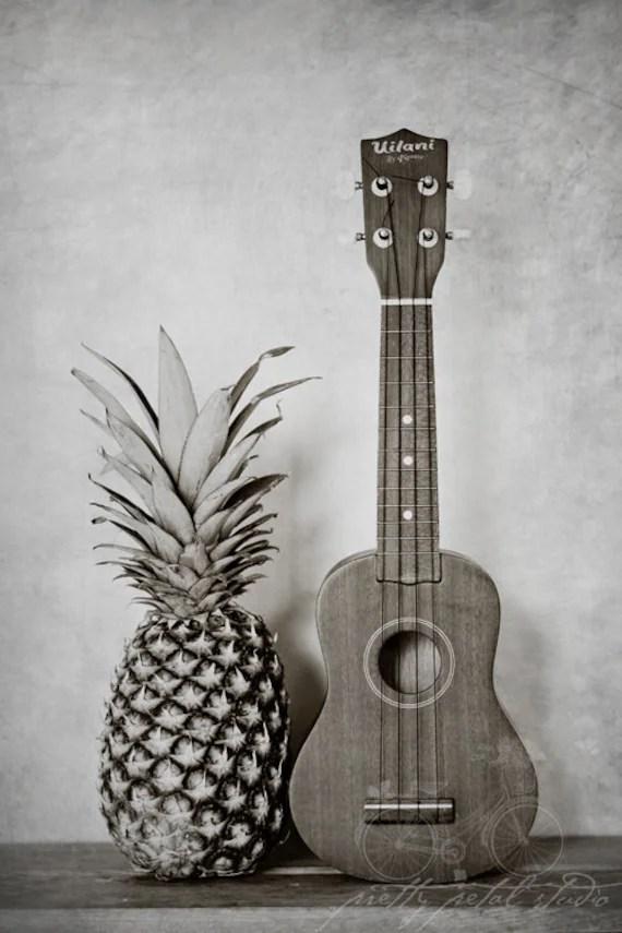 Still Life Photograph Pineapple Ukulele Photo