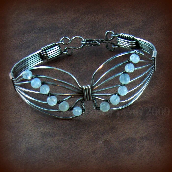Butterfly Wire Wrapped Brooch