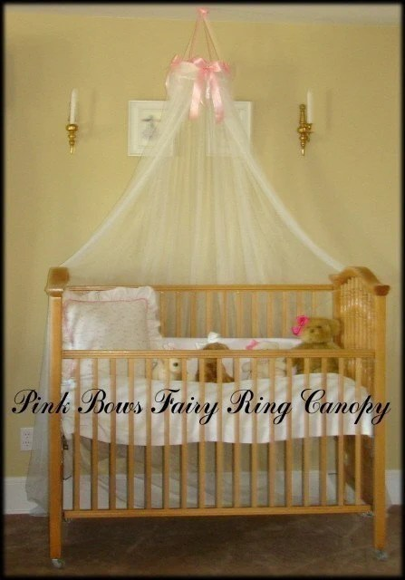 Crib Bed Princess Fairy Canopy Ring with Pink by SoZoeyBoutique