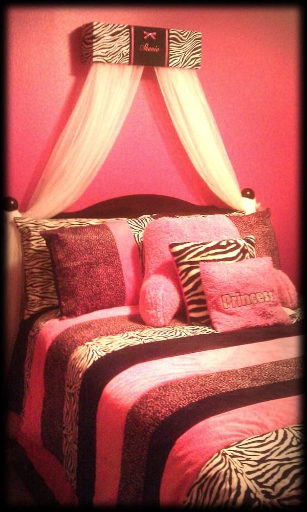 Zebra Bed Canopy Crib Crown Animal Print Sozoeyboutique