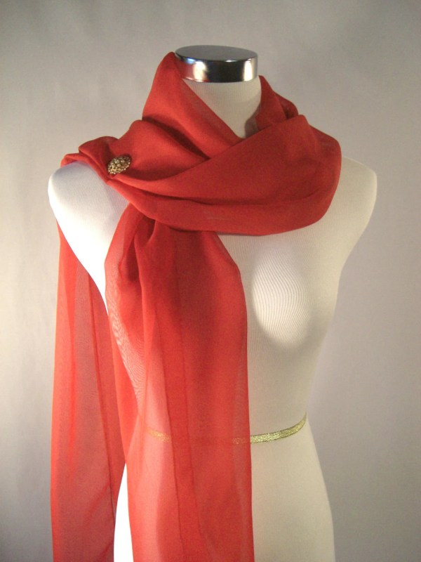 Valentine Scarf Evening Wrap Holiday Extra Long
