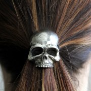 skull pony tail holder necklace