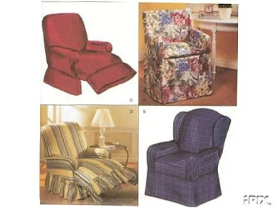 RECLINER Slipcover Sewing Pattern Recliner Wingback