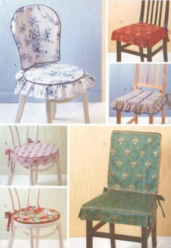 CHAIR Covers  Pads Sewing Pattern Dining Room Kitchen
