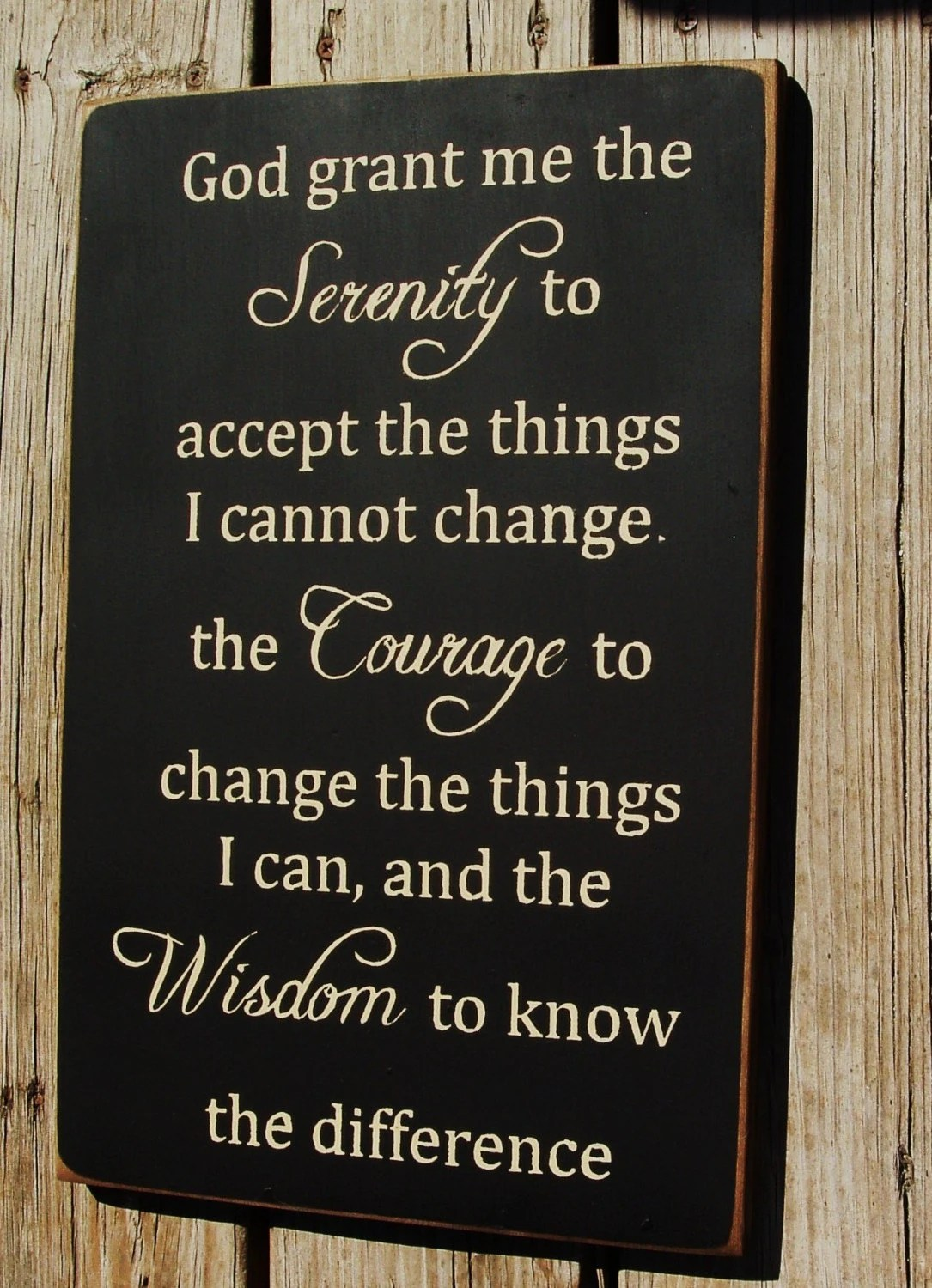 God Grant Me The Serenity Vertical By Woodsignsbypatti On Etsy