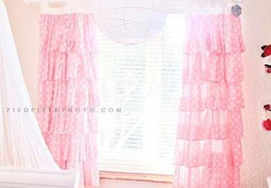 Pink Ruffled Curtains