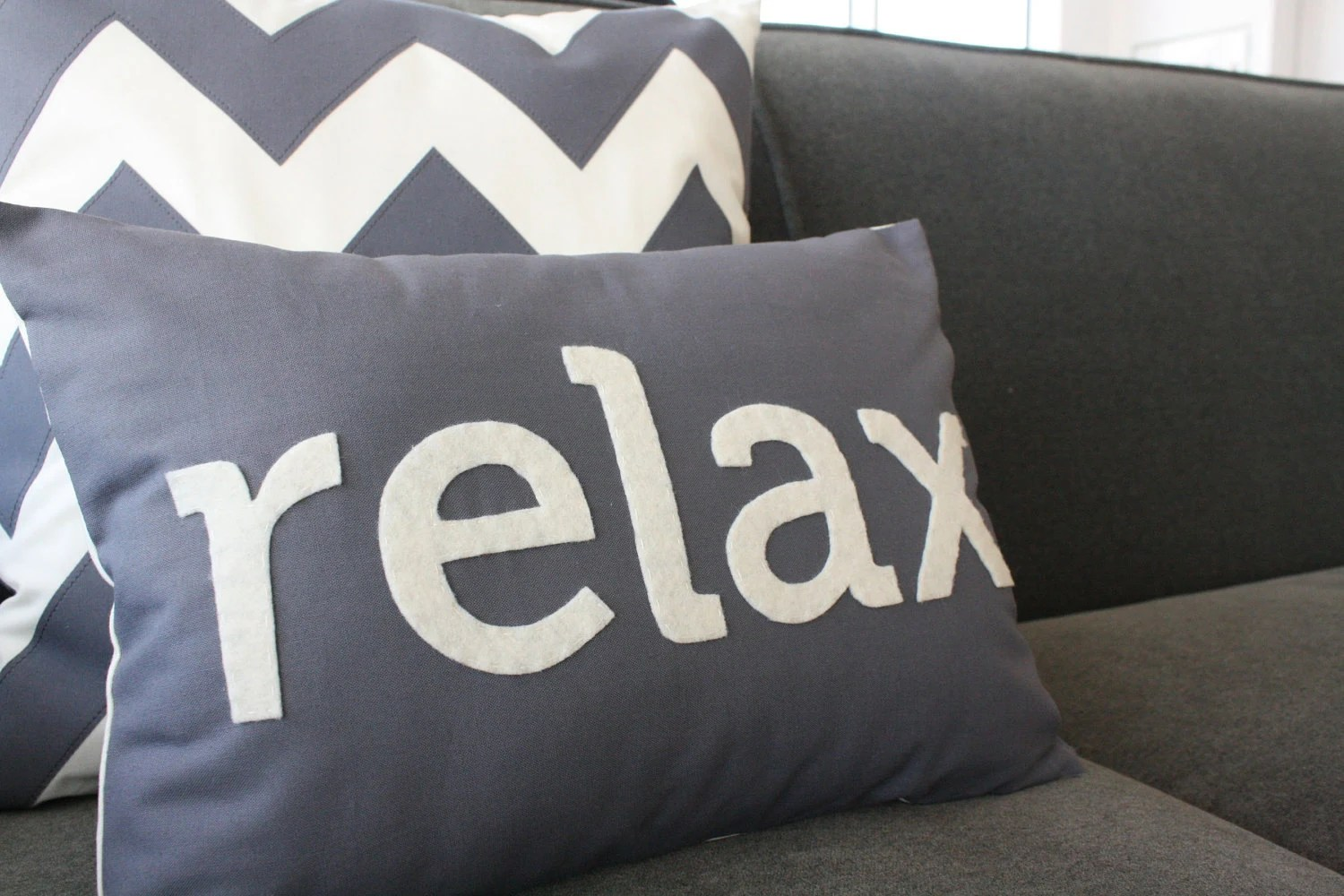 Items similar to Relax Pillow in Charcoal Gray on Etsy