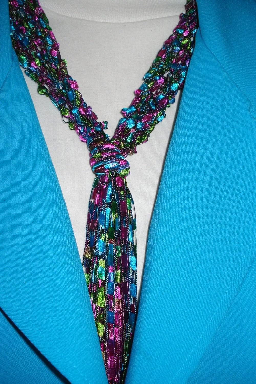 Finger Knitting Necklace