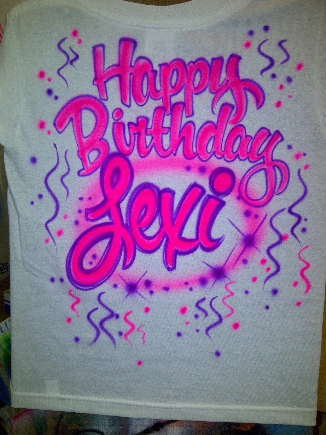 Happy Birthday Airbrush Shirts