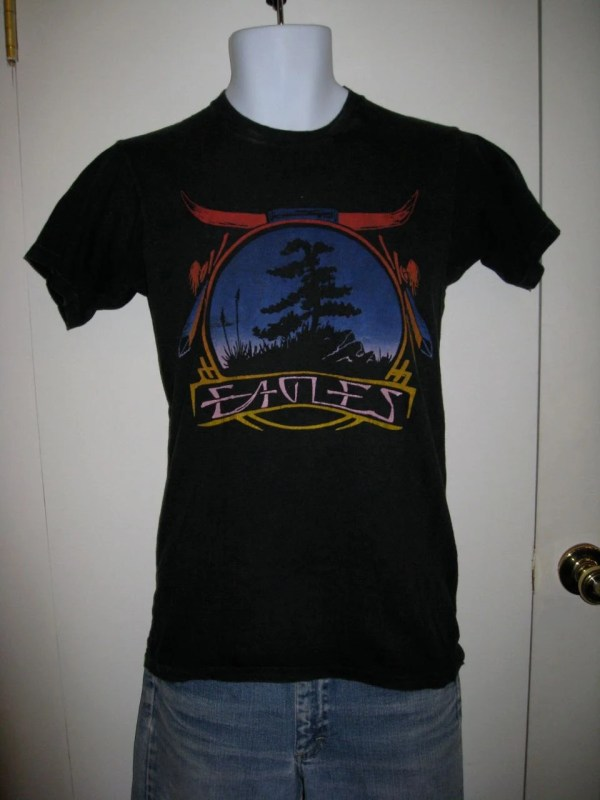 Vintage Eagles 1970s Rock Band T-shirt Native American