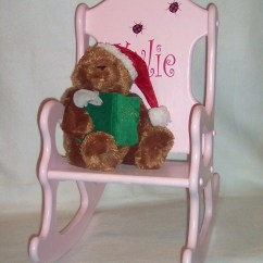 Personalized Rocking Chair For Toddlers Power Lift Medicare Kids Pink With Ladybugs