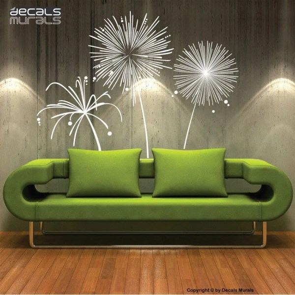 Wall Decal Fireworks Vinyl Shapes Modern Decor Stickers