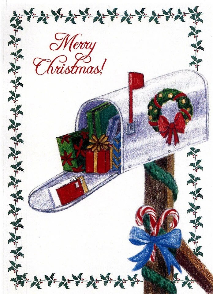 Christmas Thank You Postcard From Mail Carrier 10pk Mailman