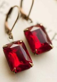 Valntines Day Earrings Gift Idea Vintage Earrings Dangle ...