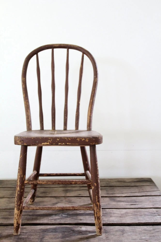 Antique Wood Spindle Chair  Painted Wood Chair by 86home