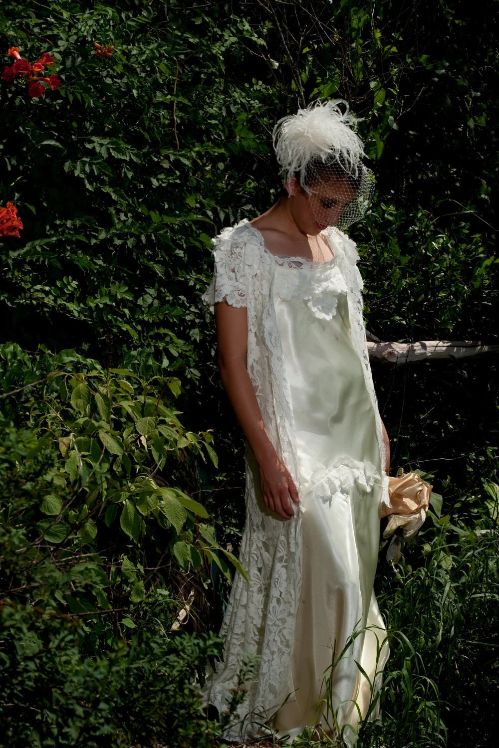 1930s wedding Vintage Lace Wedding dress by