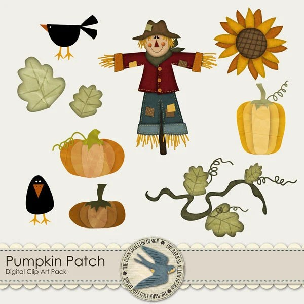 pumpkin patch digital clip art