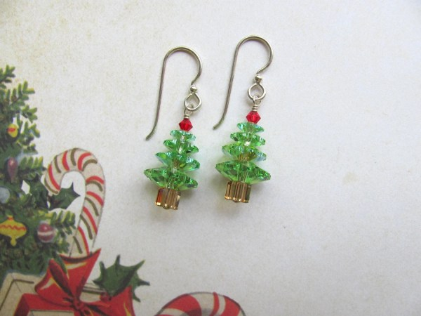 Christmas Tree Earrings Holiday Earrings Christmas Earrings