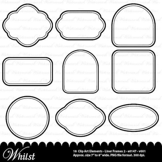 Digital frame clip art black clipart square rectangle